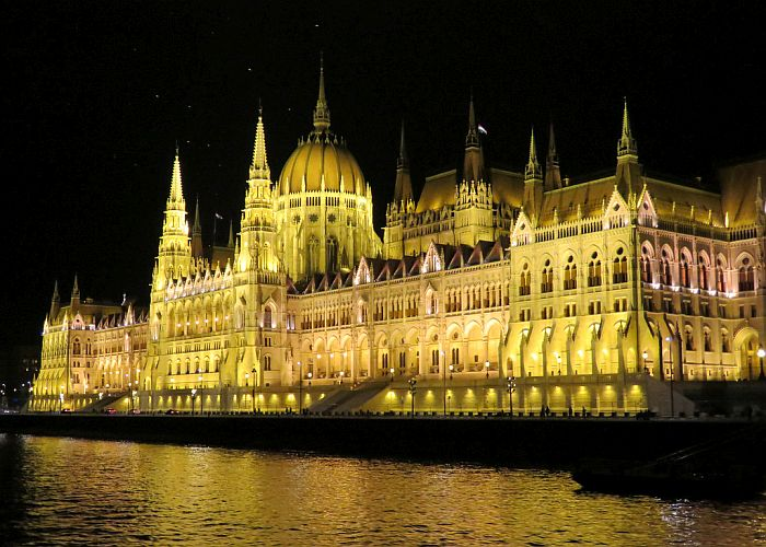 Danube at night in Budapest