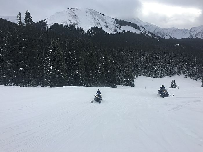 Snowmobiling in Telluride