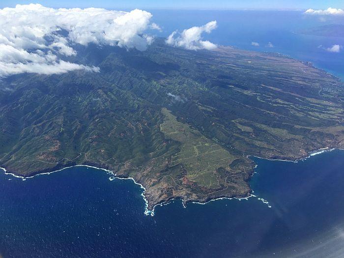 Flying to Hawaii window seat