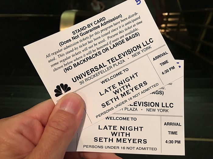 Standby tickets Late Night with Seth Meyers