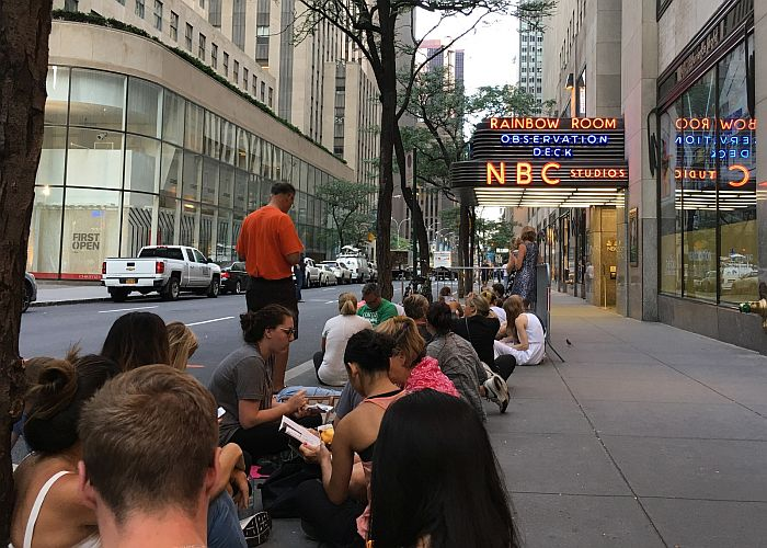 Line for The Tonight Show & Late Night with Seth Meyers