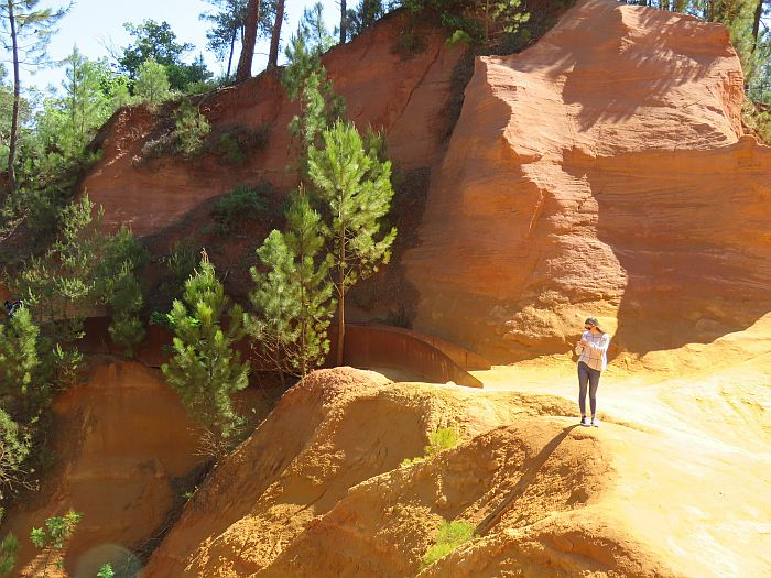 ochre quarry Le Sentier des Ocres