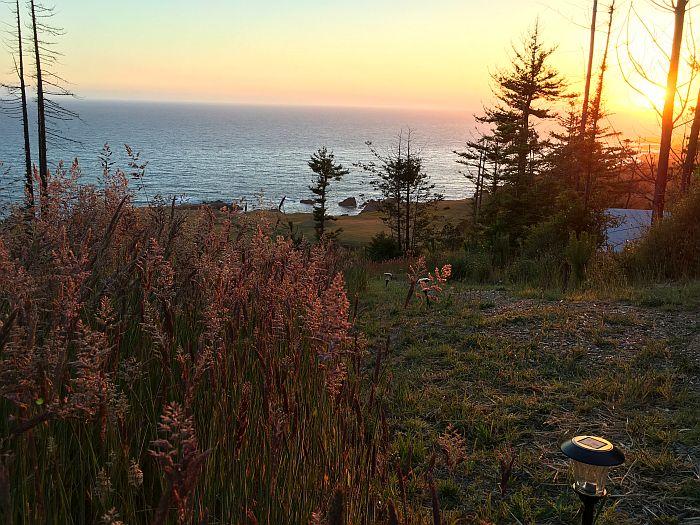sunset at Terra Glamping
