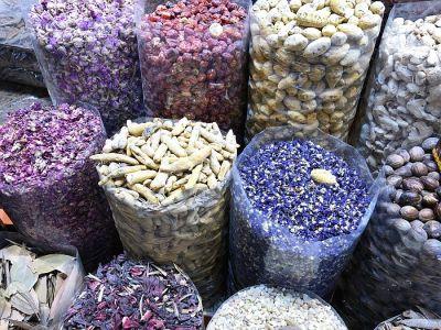 spices in the market in Dubai