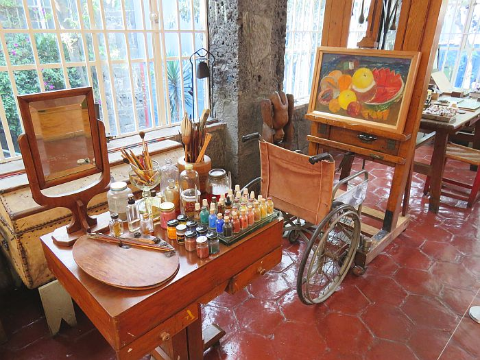 Frida Kahlo studio in the Museum in Mexico City