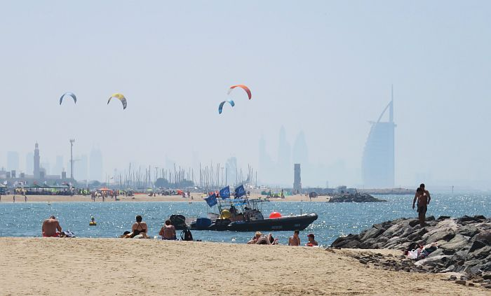 beach scene in Dubai