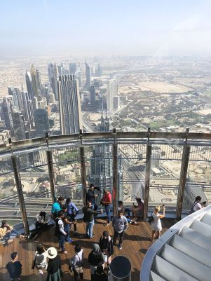 View from the Burj Khalifa in Dubai