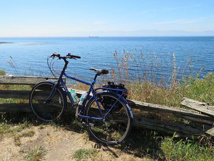 biking along the Victoria coast