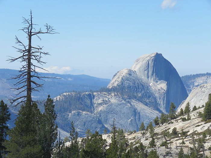 Tioga Pass view of Half Dome