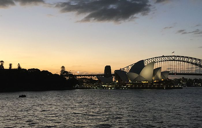 the Sydney Harbour Bridge and Sydney Opera House