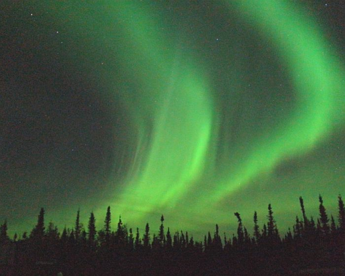 Northern Lights viewed at Borealis Basecamp