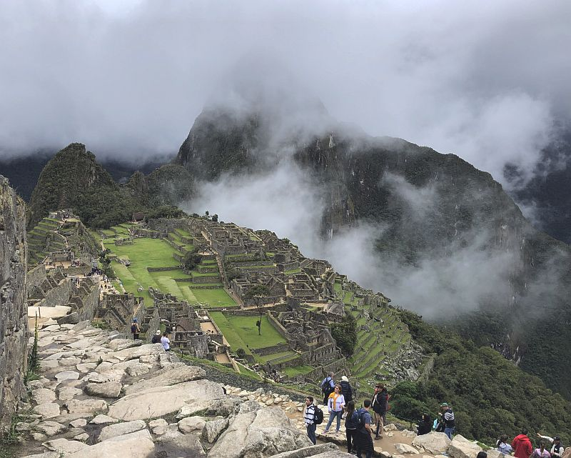 Atop Machu Picchu in Peru