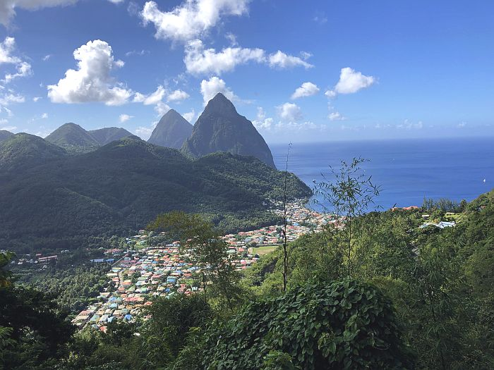 Pitons mountains in St. Lucia