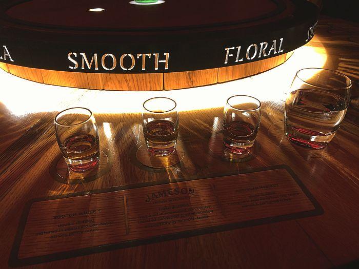 Irish Whiskey Tasting during Jameson tour