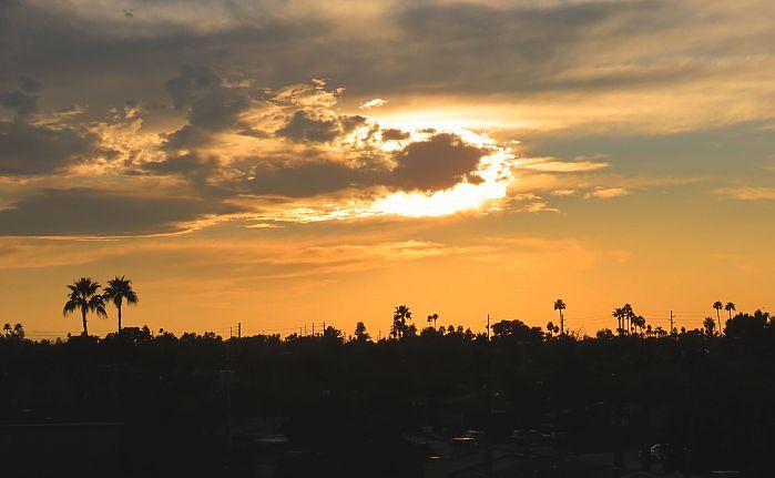 Sunrise from Hotel Valley Ho, Scottsdale, Arizona