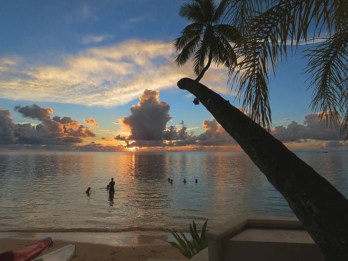 Moorea Beach Lodge at Sunset